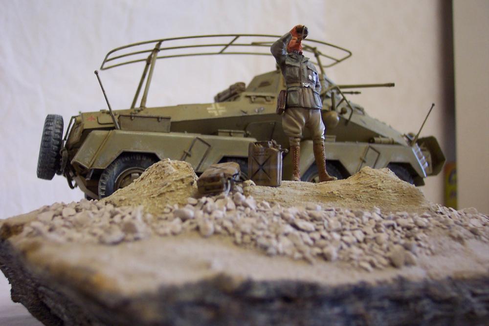 Sd.Kfz 232, Soif dans le désert - Tamiya 1/35 Sdkfz23202