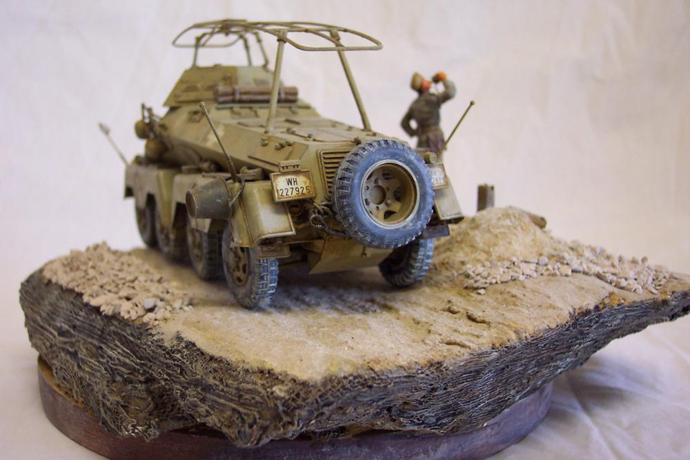 Sd.Kfz 232, Soif dans le désert - Tamiya 1/35 Sdkfz23203