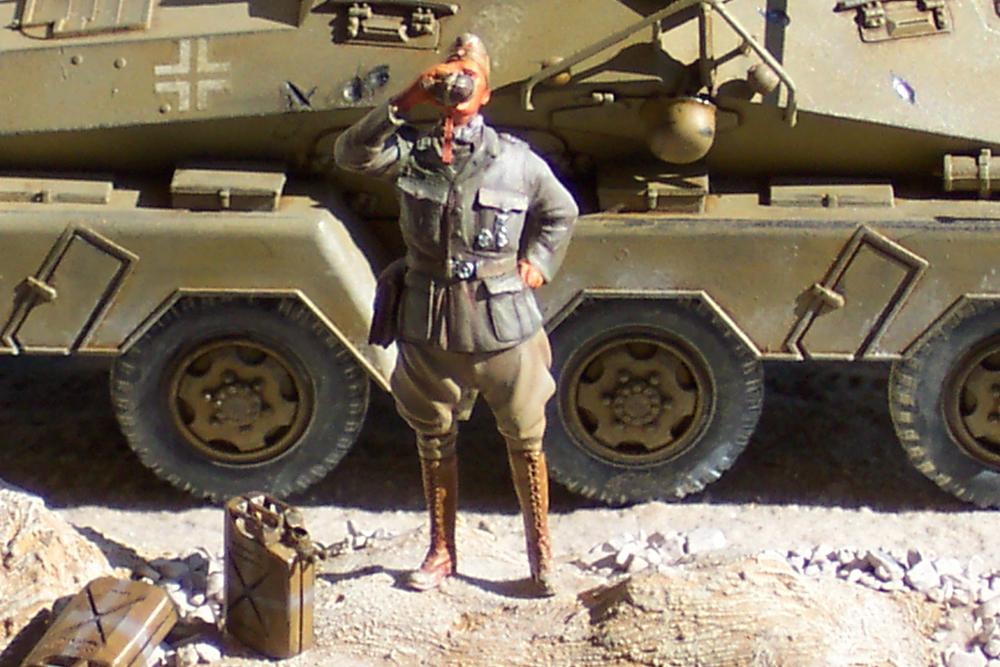 Sd.Kfz 232, Soif dans le désert - Tamiya 1/35 Sdkfz23208